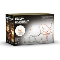 Bar Amigos Brandy Warmer Set - Copper (400ml Snifter with Stand) image