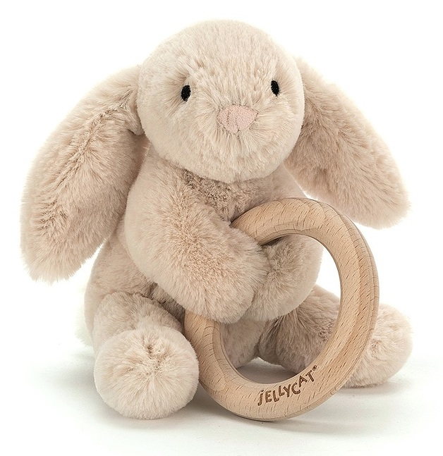 Jellycat: Shooshu Bunny - Plush & Wooden Ring
