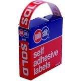 Quik Stik Sold Removable Labels Pkt250