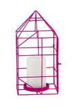 General Eclectic Wire House Candle Holder (Pink)