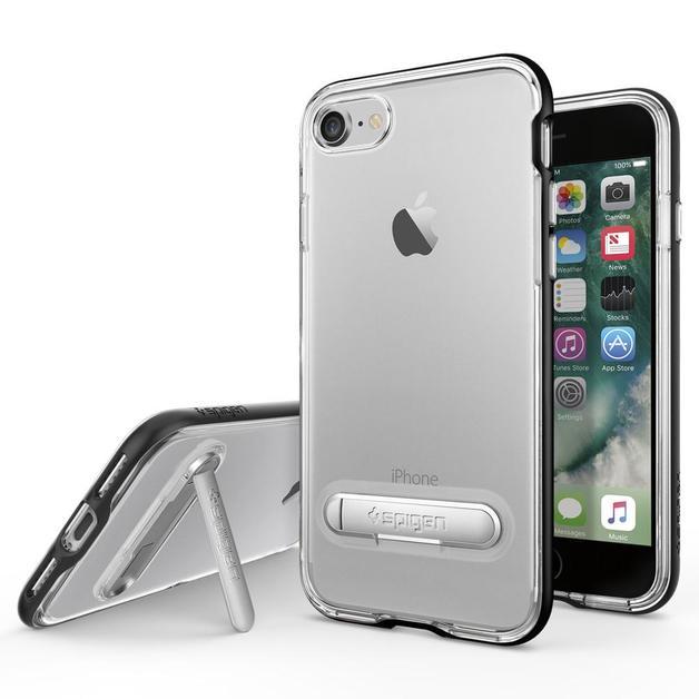 Spigen: iPhone 7 - Crystal Hybrid Case (Black)