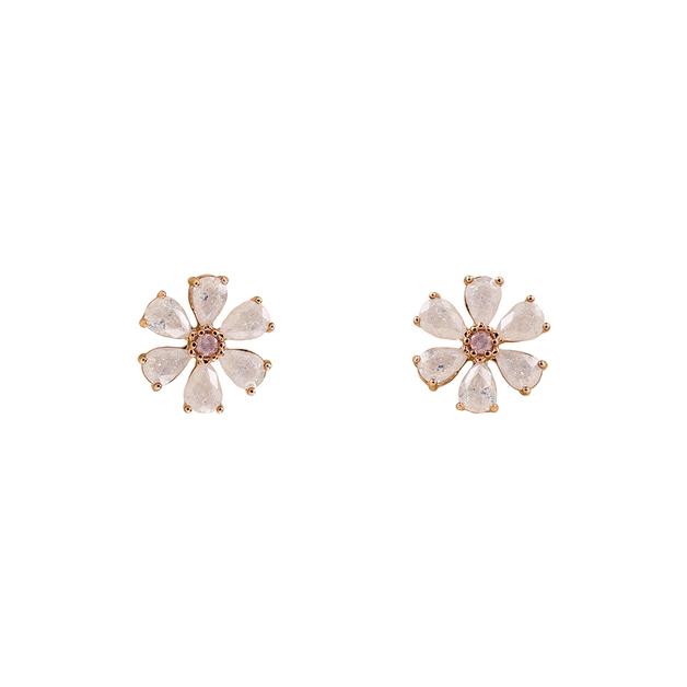Short Story: Earring Flower Rose Gold