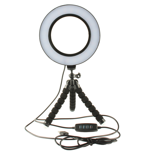 LED Selfie Ring Light - Black (26cm)