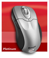 Microsoft Wireless Optical Mouse 5000 Platinum Mac/Win PS2/USB Wheel Mouse