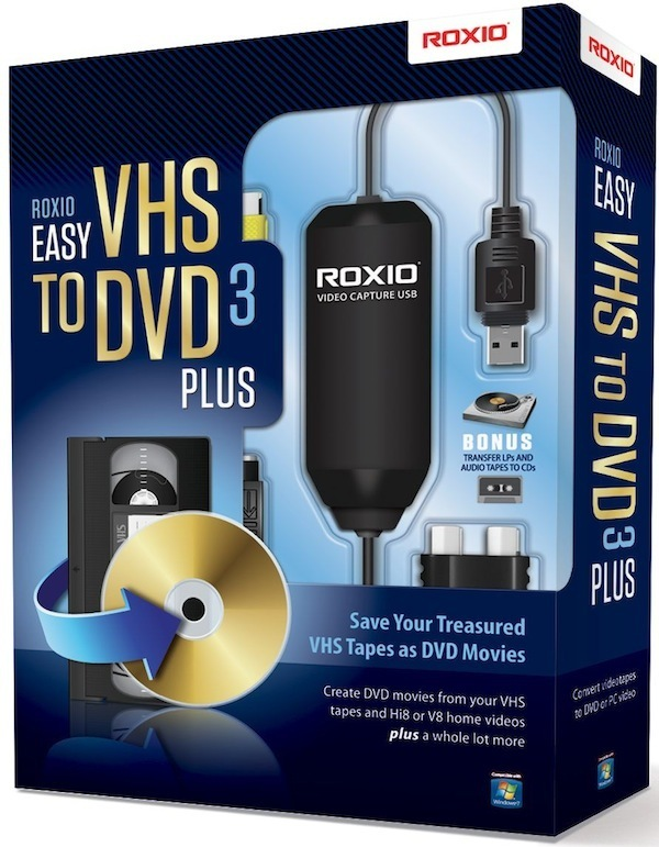 roxio vhs dvd  Roxio Easy VHS to DVD 3 Plus | at Mighty Ape NZ