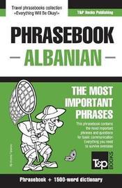 English-Albanian Phrasebook and 1500-Word Dictionary by Andrey Taranov image