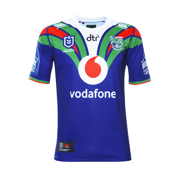 Warriors On Field Home Jersey Mens (L)