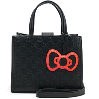 Loungefly: Hello Kitty - Black with Bow Tote Bag