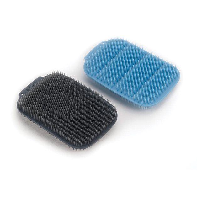 Joseph Joseph: Cleantech Washing-Up Scrubber (2-Pack) - Blue/Grey