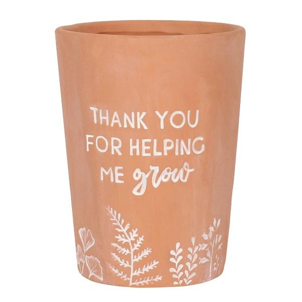 Terracotta Plant Pot - Thank You
