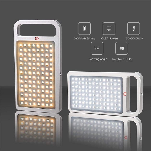 Zomei: Square Photography Portable Rechargeable LED Fill Video Light