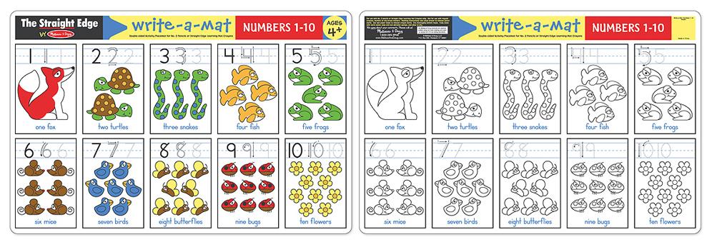 Melissa & Doug: Numbers 1-10 Write-a-Mat image