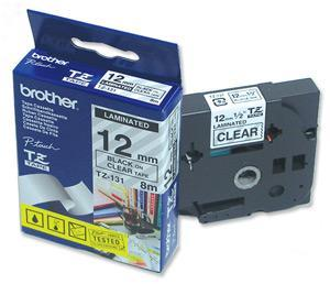 Brother PT320 PT540 PT530 Replacement Tape 12mm (Gold on Black) image