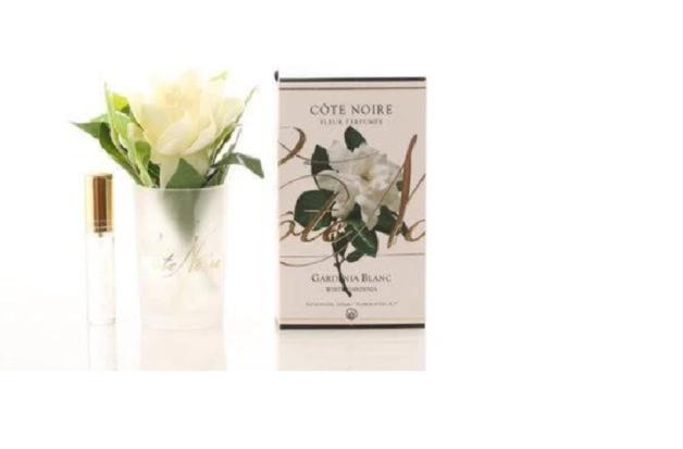 Cote Noire: Clear Single gardenia with Fragrance spray