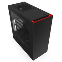 NZXT S340 Mid Tower Windowed Case (Black/Red)
