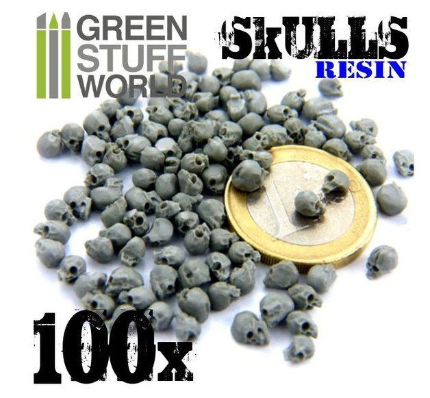 Green Stuff World: Resin Skulls Skulls Set x100