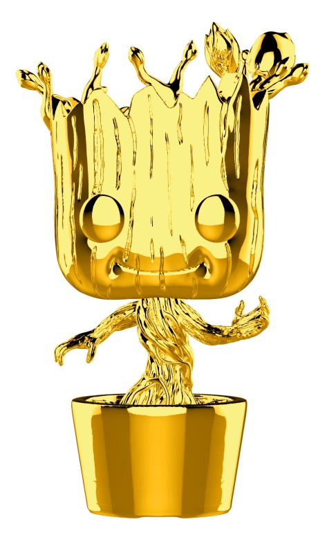 Marvel Studios - Dancing Groot Gold Chrome Pop! Vinyl Figure image