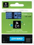 Dymo: 12mm D1 Tape - Black on Blue