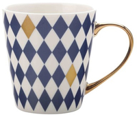 Maxwell & Williams Aurora Mug Gold Handle 300ML Diamond Navy