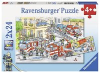 Ravensburger : Heroes in Action Puzzle 2x24pc