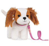 "Our Generation: 6"" Standing Puppy - King Charles Spaniel image"