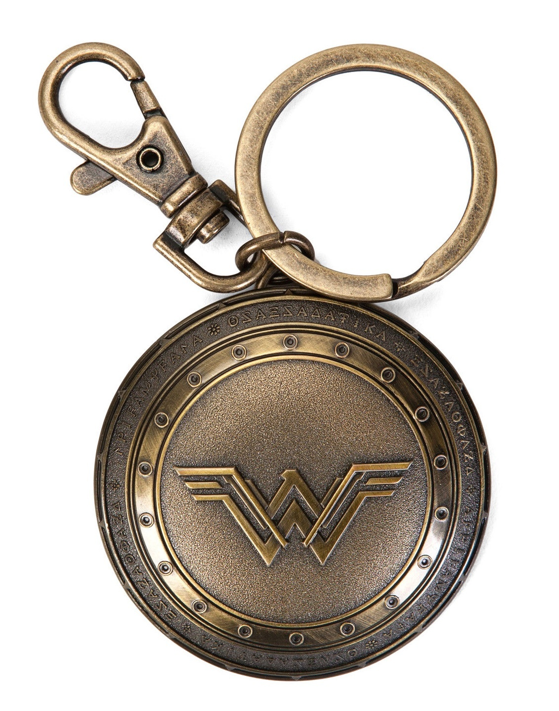Batman v Superman: Wonder Woman Brass Shield - Pewter Key Chain image