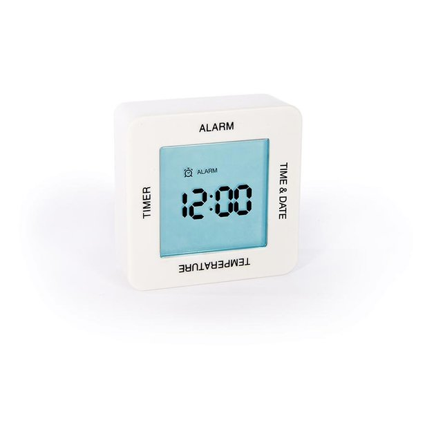 Rotate Me: 4 Function Alarm Clock - White