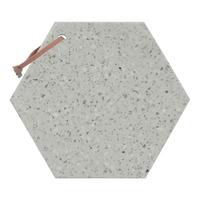 Terrazzo Stone Serveboard - Long Hex (Grey)