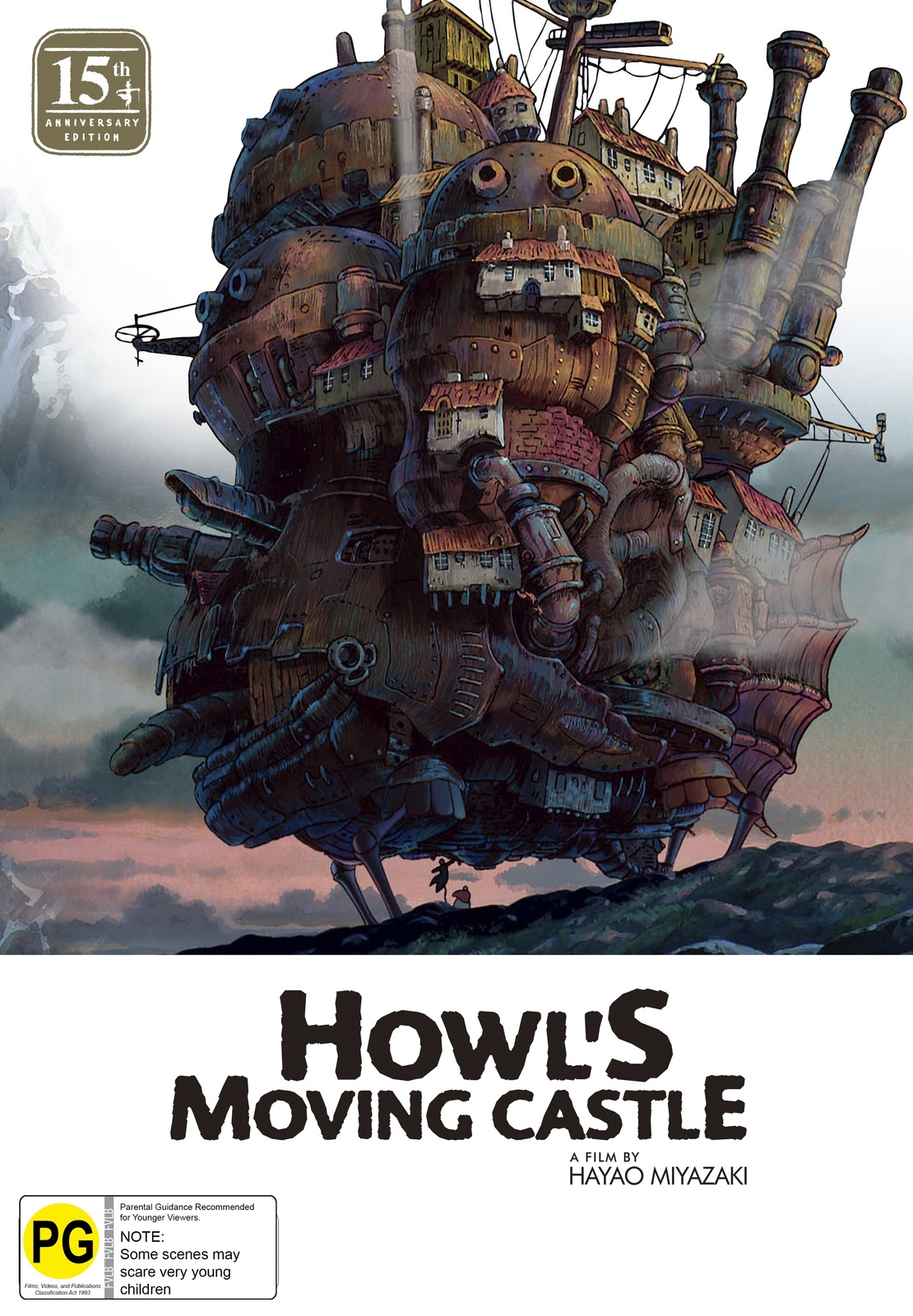 Howl's Moving Castle 15th Anniversary Limited Edition (Blu-ray & DVD Combo With Artbook) on DVD, Blu-ray image