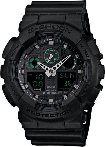 Casio G-Shock Analogue/Digital Mens Black Big Case Military Watch GA-100MB-1A