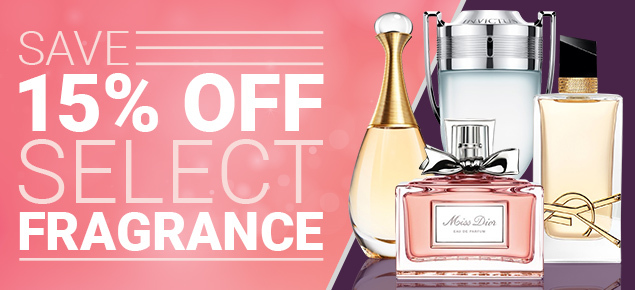 15% off Select Fragrance!