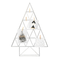 Metal Tree with Pegs - Silver