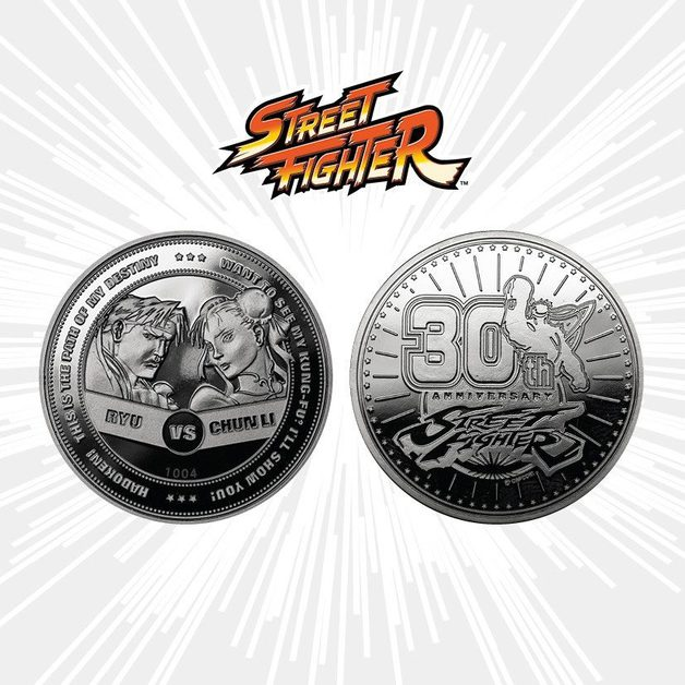 Street Fighter: Collectible Coin - 30th Anniversary (Silver Edition)