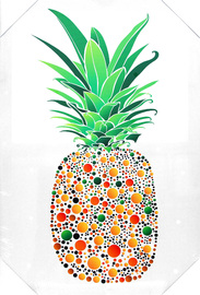 Pineapple with Dots Canvas Print