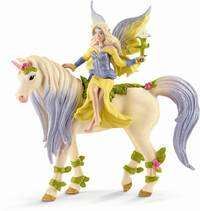 Schleich : Fairy Sera with Blossom Unicorn