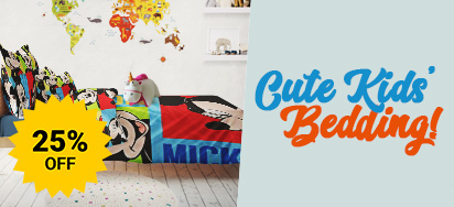 25% off Cute Kid's Bedding!