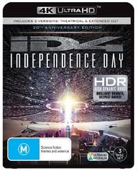 Independence Day on Blu-ray, UHD Blu-ray
