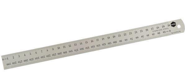 Marbig 30cm Metric Metal Ruler