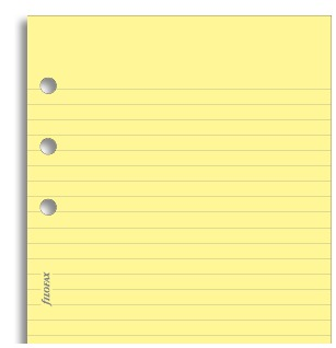 Filofax - Personal Lined Notepad - Yellow (100 Sheets)