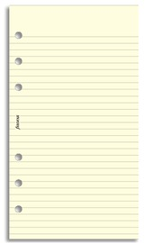 Filofax - Personal Lined Notepaper - Cotton Cream (30 Sheets)