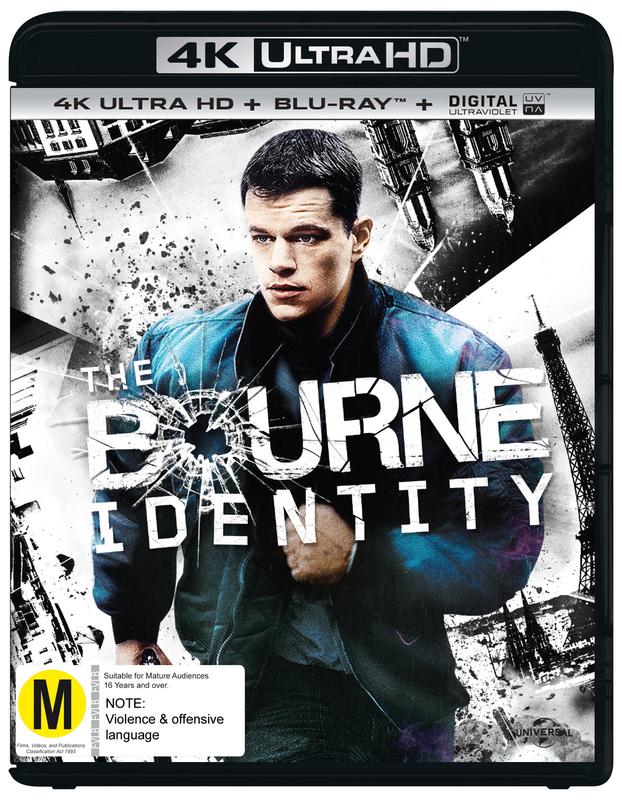 The Bourne Identity on Blu-ray, UHD Blu-ray