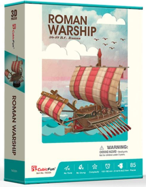 Cubic Fun: Roman Warship - 85 Piece 3D Puzzle