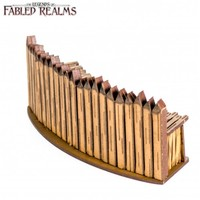 Fabled Realms: Palisade - Curved Wall