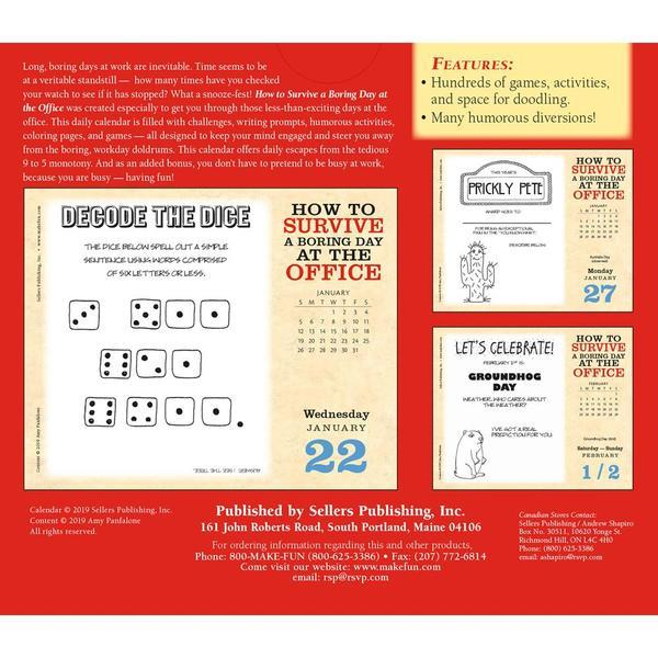 How to Survive a Boring Day at the Office 2020 Boxed Calendar by Sellers Publishing image