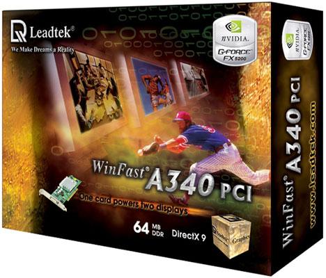Leadtek Graphics Card WinFast A340 64M PCI FX5200 image