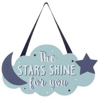 My First Years: Wooden Cloud Hanging Sign - The Stars Shine For You