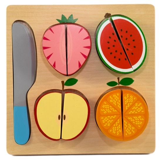 Kiddie Connect: Fruit Slicing - Wooden Puzzle