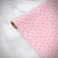 Gorilla Gift: Wrapping Paper - Birthday Pink (2m)