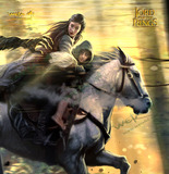 "Lord of the Rings: Flight to the Ford 23"" Art Print - by Weta"