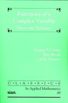Functions of a Complex Variable by George F. Carrier image
